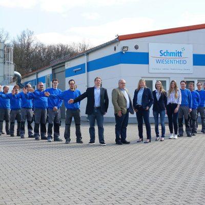 Teamfoto 2019 Schmitt Wiesentheid Luftbild.